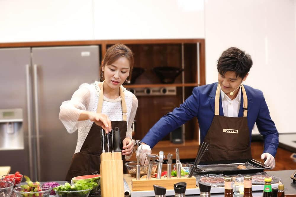 田亮、叶一茜体验便捷人性化的欧派厨房