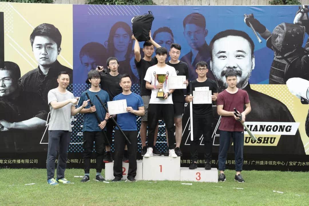 短兵项目男子组团体淘汰赛前三