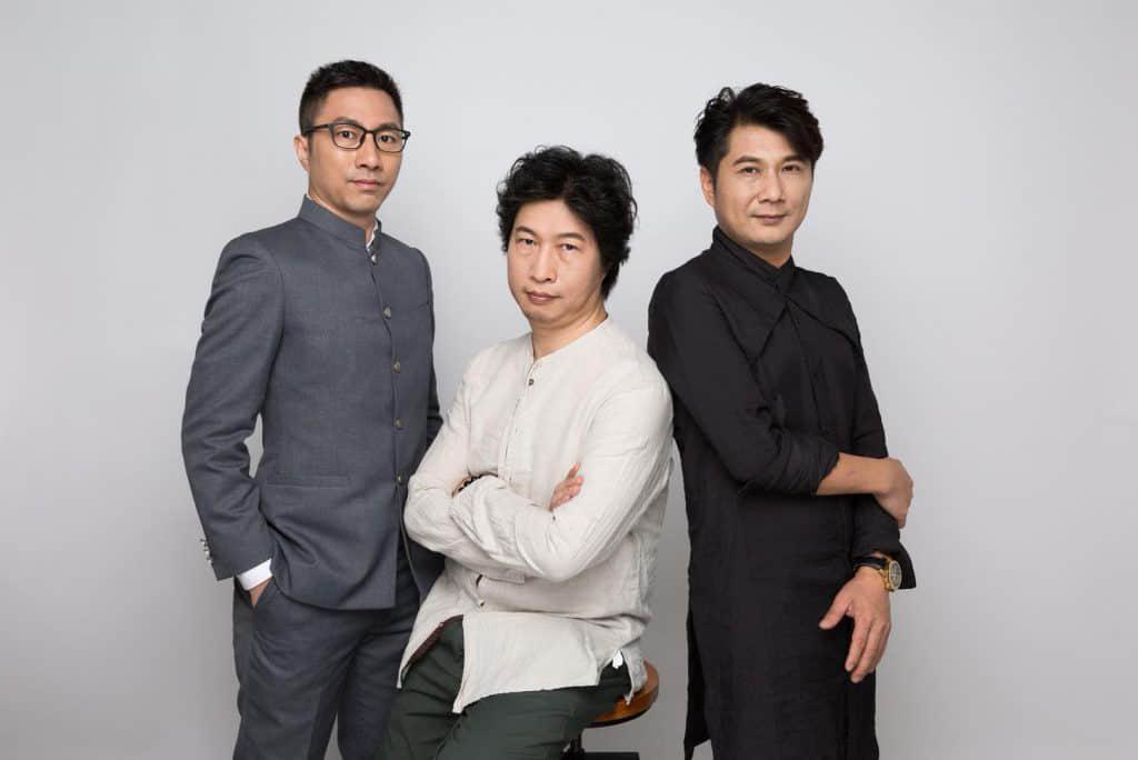 《粤韵唐诗》作者左起:劳震宇、梁天山、陈辉权
