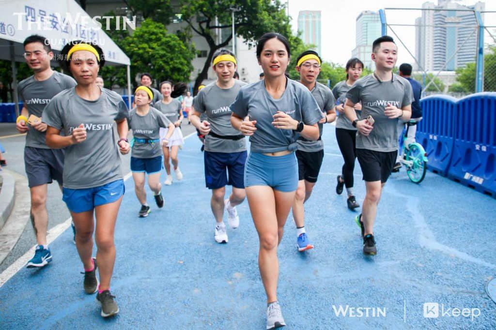 Westin x Keep 马拉松跑步训练营之城中夜跑活动