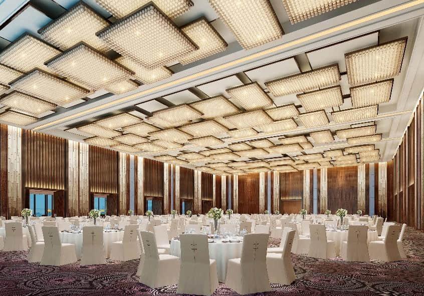 1200平方米的无柱大宴会厅