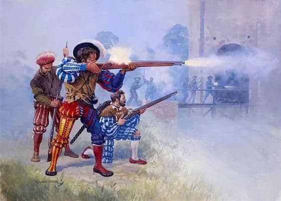 欧洲的火绳滑膛枪