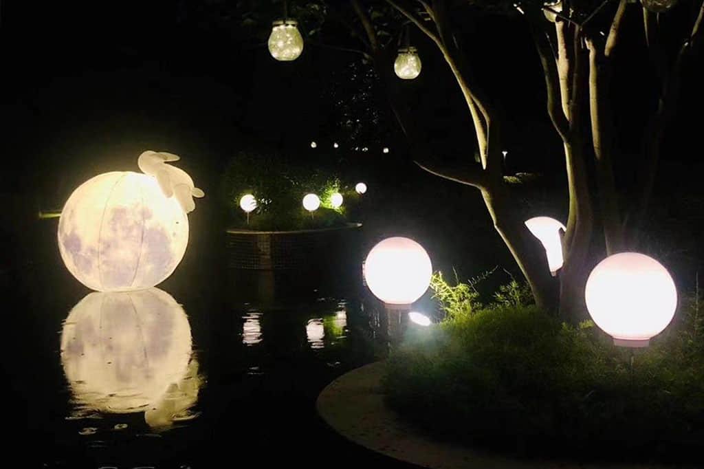 南沙花园酒店的中秋灯饰